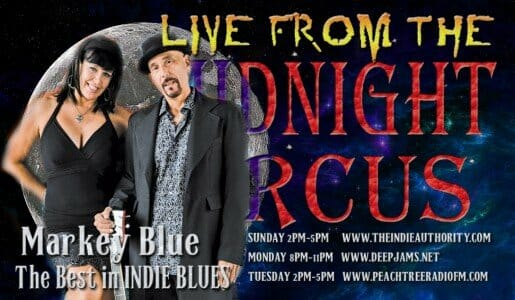 LIVE from the Midnight Circus 8/30/2015 with Markey Blue